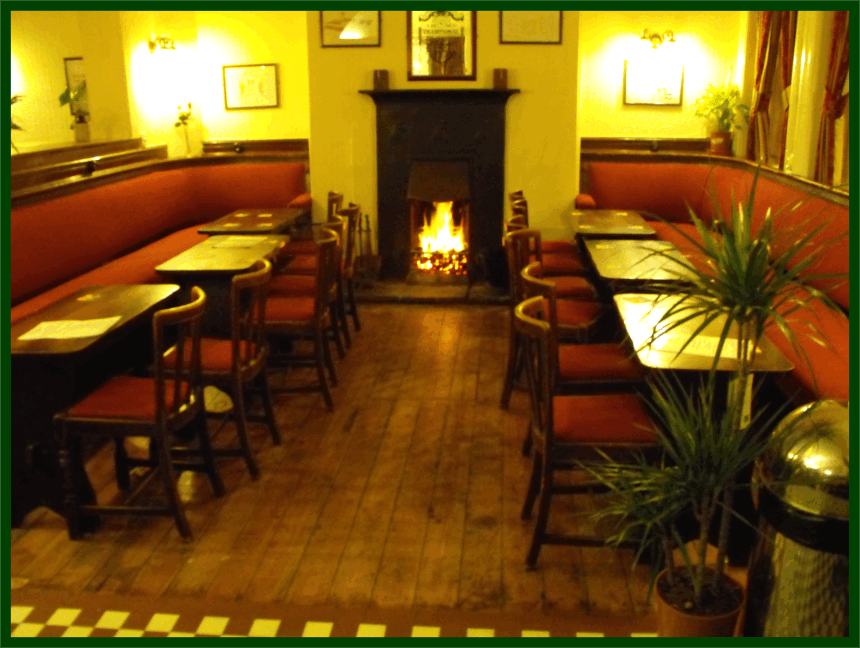 The Sportsman -One of the 'cosy rooms' with real fire